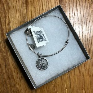 "Alex and Ani | Silver ""J"" bracelet"
